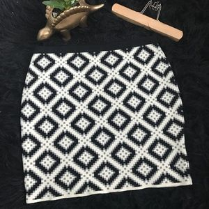 Rachel Rachel Roy Black White diamond print skirt